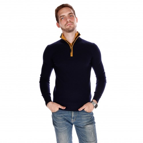 PULL CAMIONNEUR BICOLORE DOUBLE COL