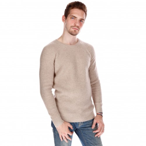 PULL COL ROND COTE ANGLAISE