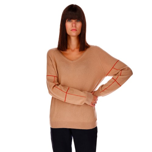 PULL COL V COUTURE EXTERNE