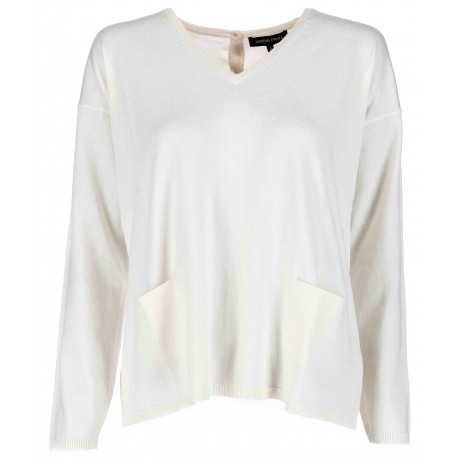 Pull col V2 poches dos a boutons