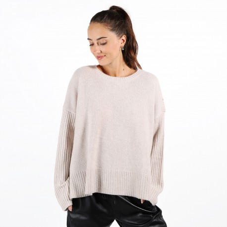 PULL COL ROND 3 BOUTONS