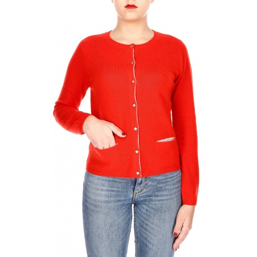 PULL COL ROND AVEC BOUTONS ET POCHES